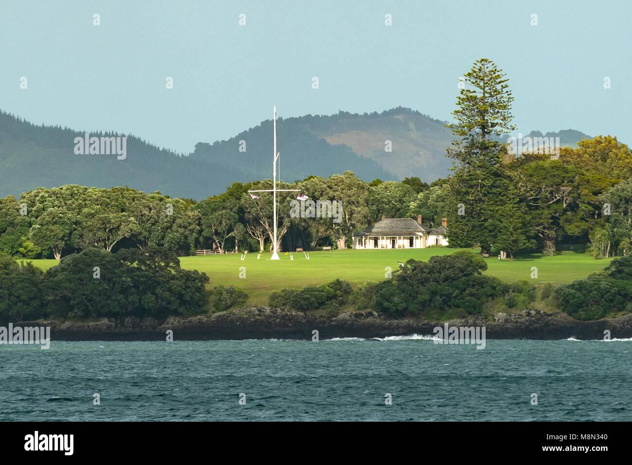 Treaty Ground, Waitangi, North Island, New Zealand - Stock Image