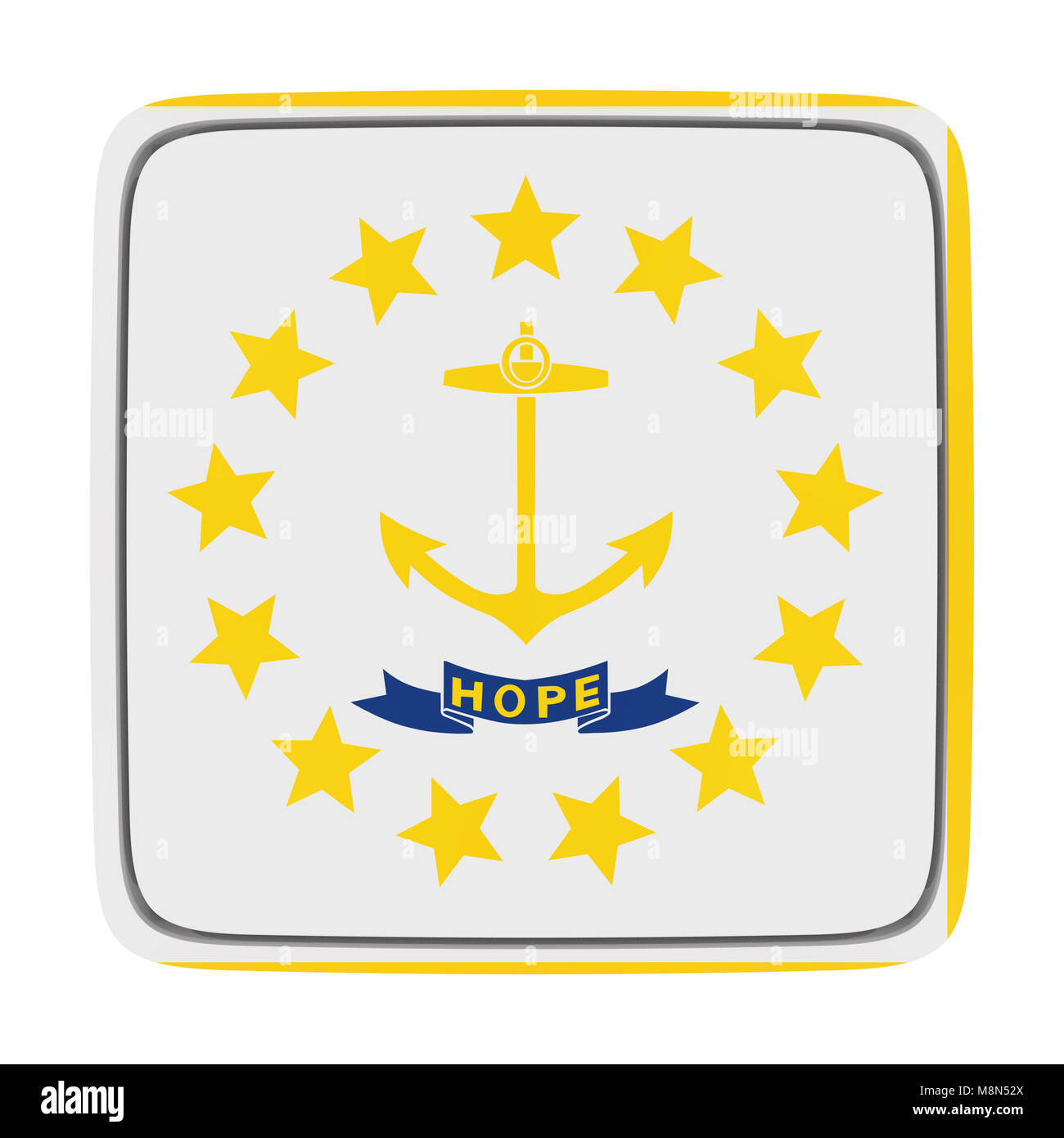 Rhode Island State Flag Cut Out Stock Images Pictures Alamy