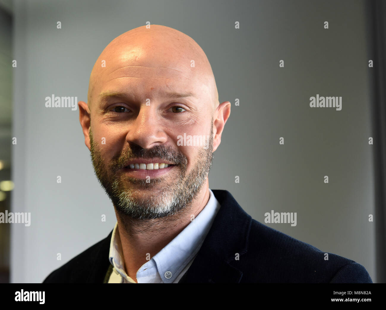 Retired English footballer Danny Mills - Stock Image