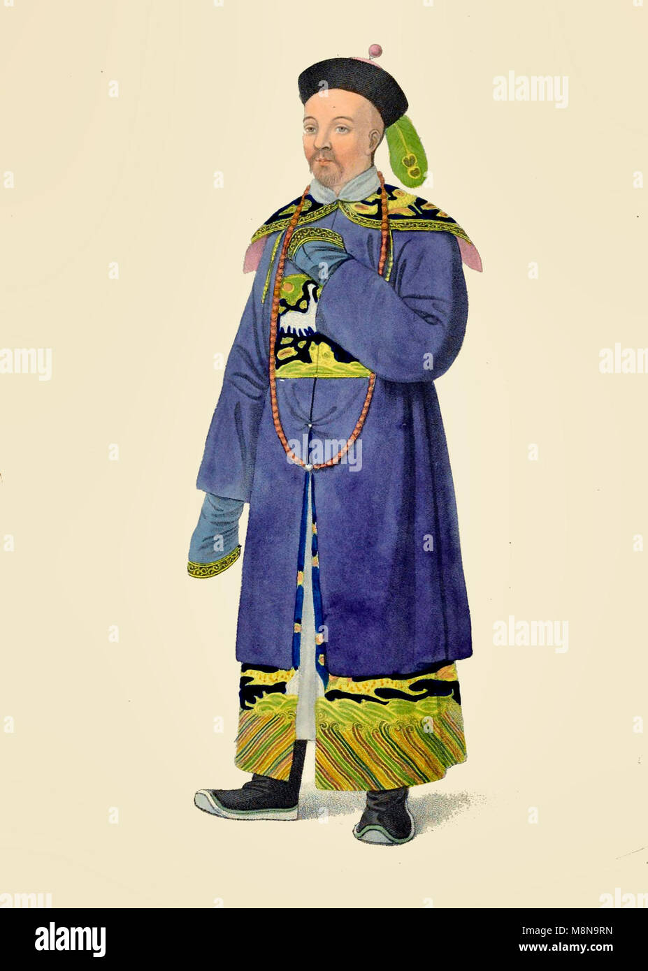 A Mandarin of Distinction, China, 1800 - Stock Image