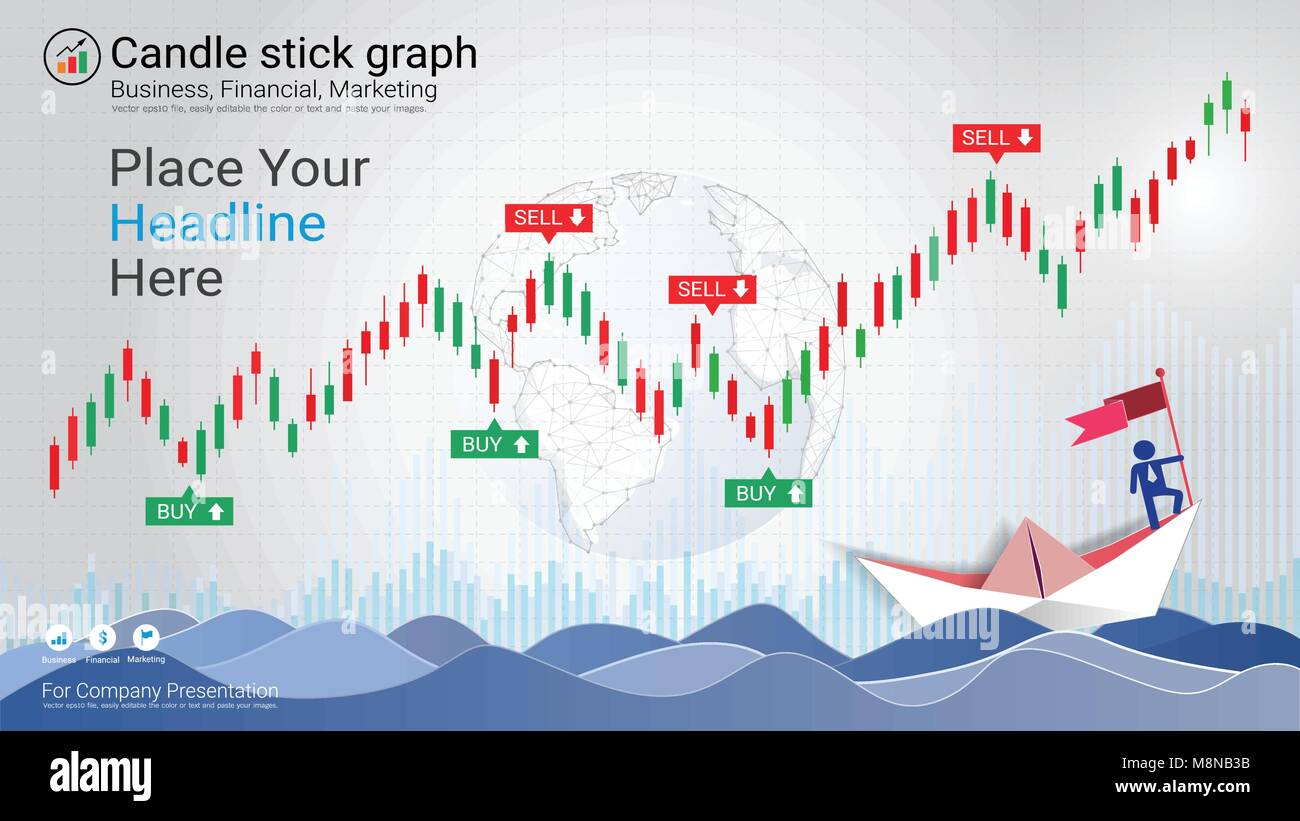 Forex stock market investment trading concept, Candlestick pattern with bullish and bearish is a style of financial - Stock Image