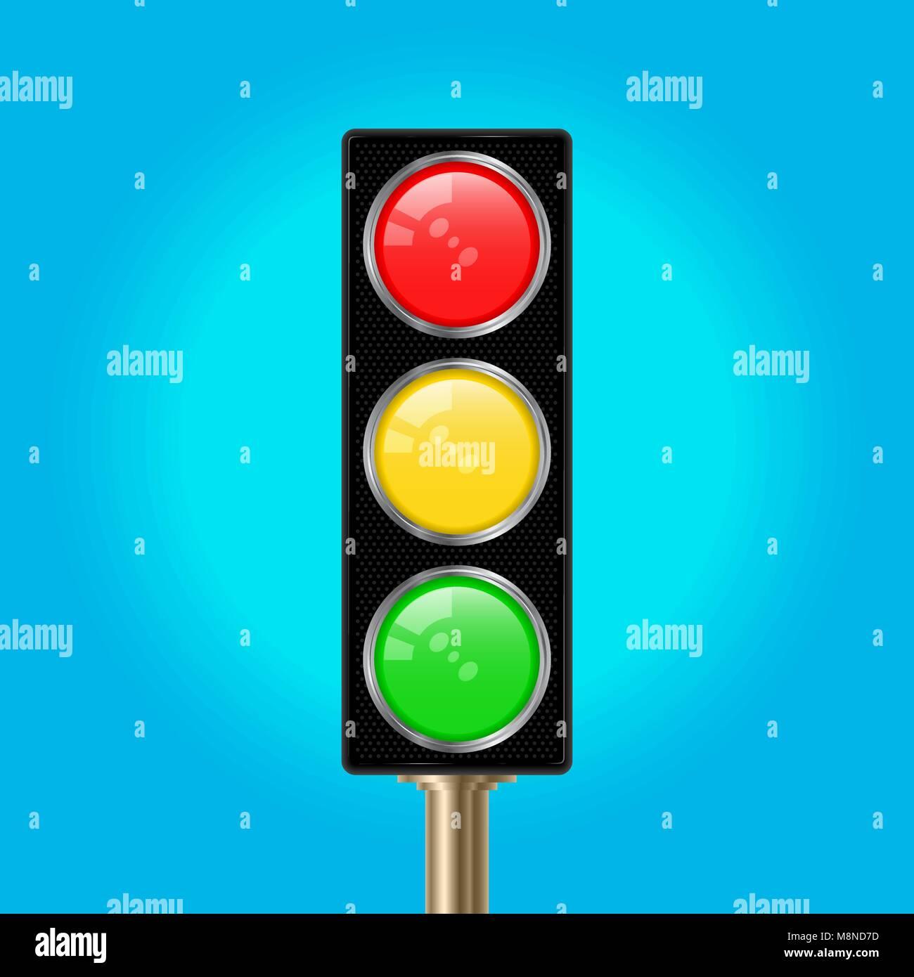 Traffic Light Pole, Vector Illustration Stock Vector