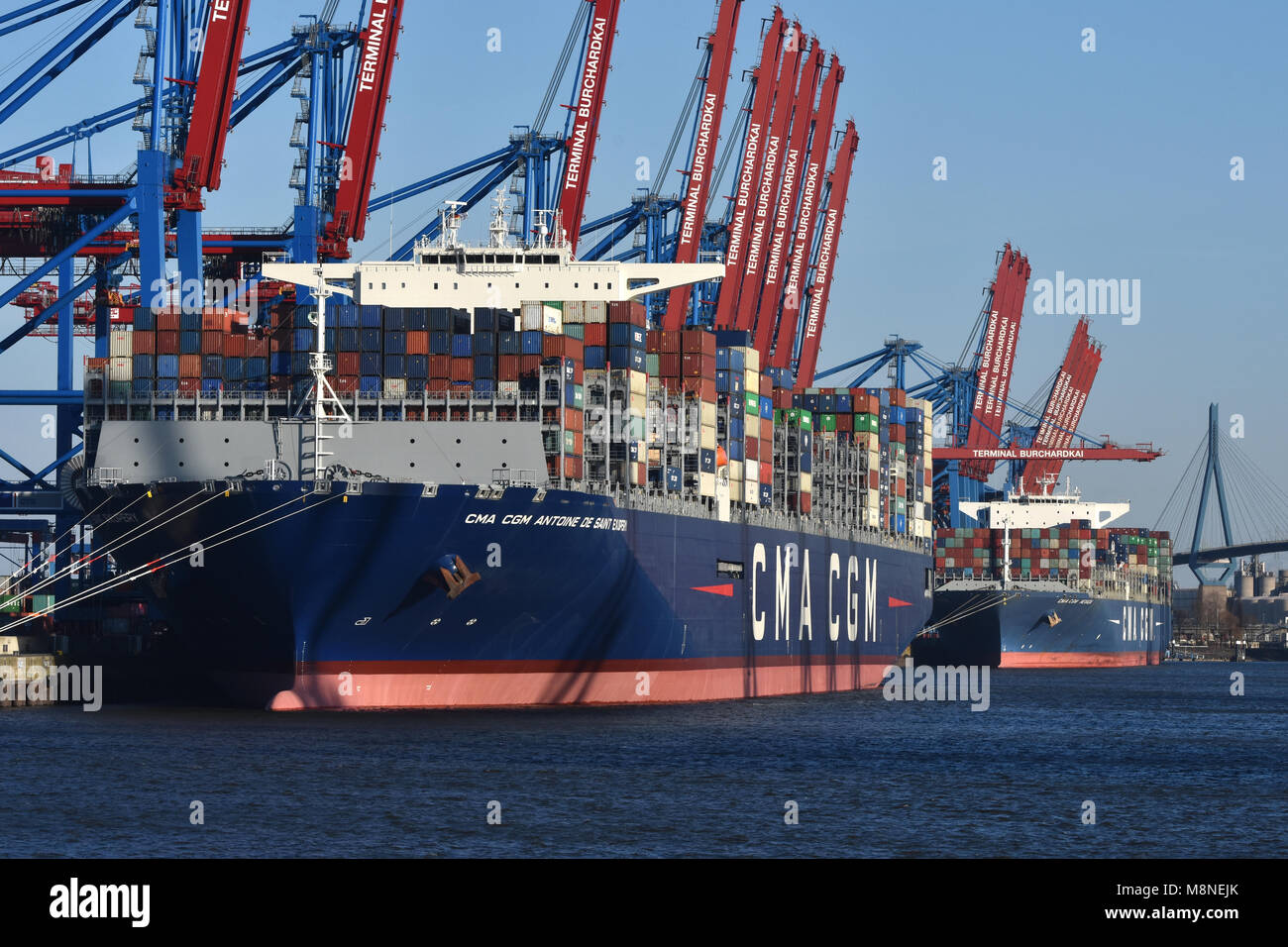 CMA CGM Antoine de Saint Exupery - Stock Image