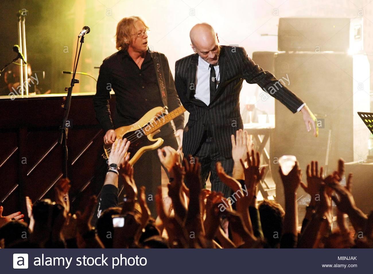 michael stipe, rem in concert, milano 18-03-2008 - Stock Image