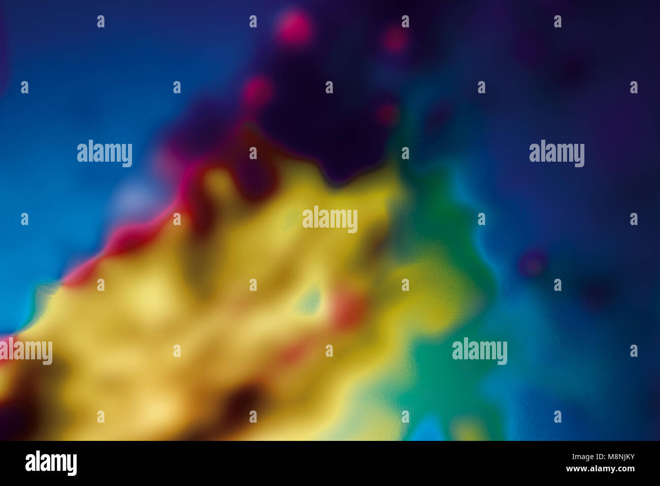 Abstract blurred cloudy background colorful glowing gradient light spectrum space dynamic creative backdrop illustration - Stock Image