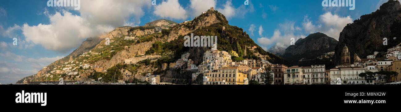 Amalfi Panorama - Stock Image