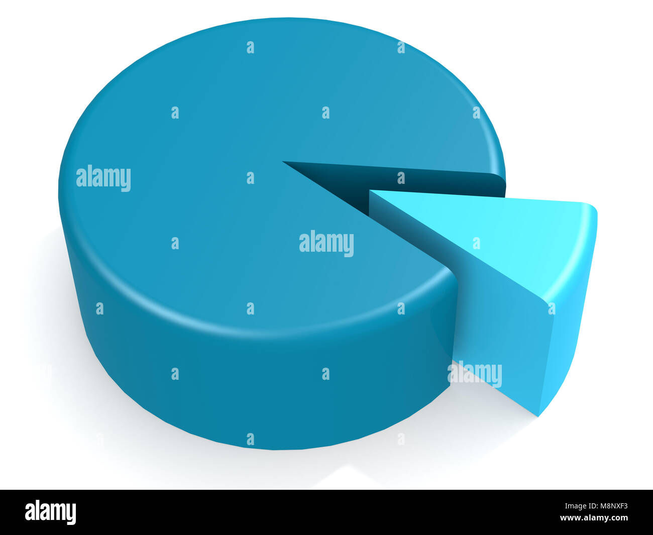 Blue pie chart stock photos blue pie chart stock images alamy blue pie chart with 10 percent 3d rendering stock image nvjuhfo Gallery