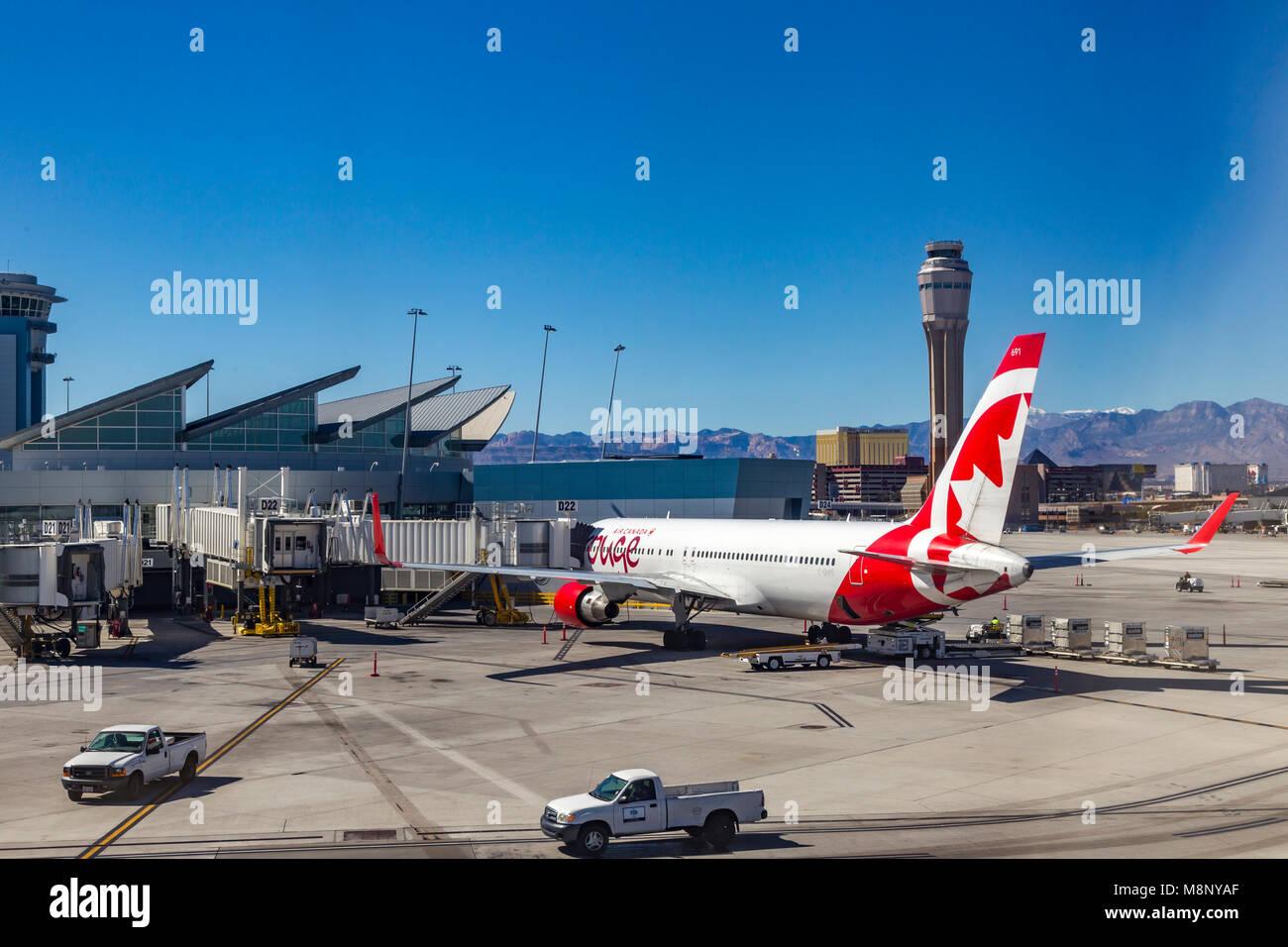 McCarran International airport Las Vegas, USA - Stock Image