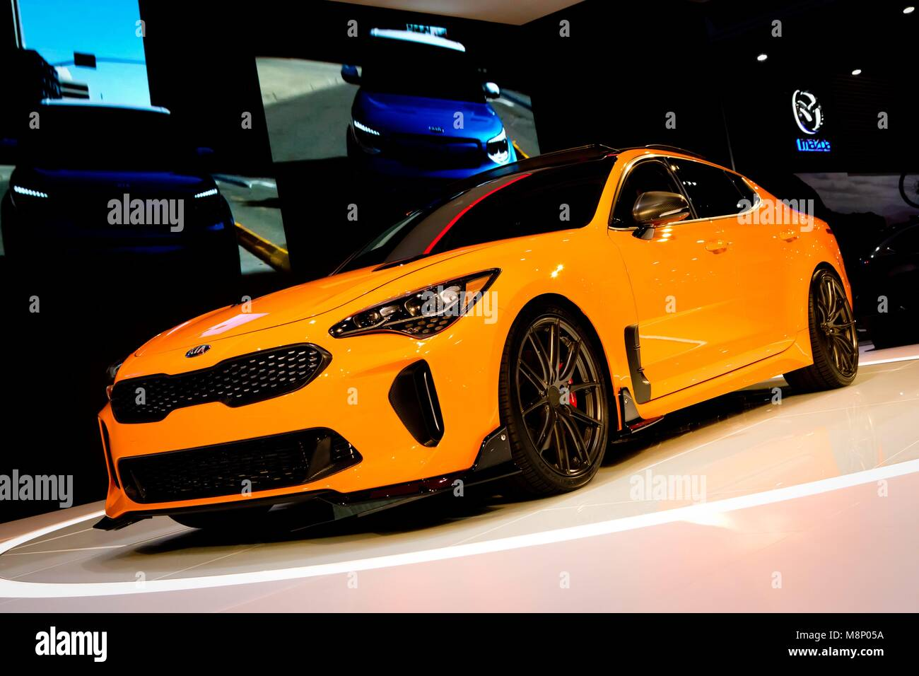 2018 Kia Stinger GT at the San Diego International Auto Show, in ...