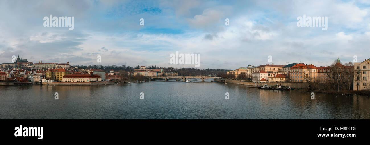 Moldau Panorama View - Stock Image