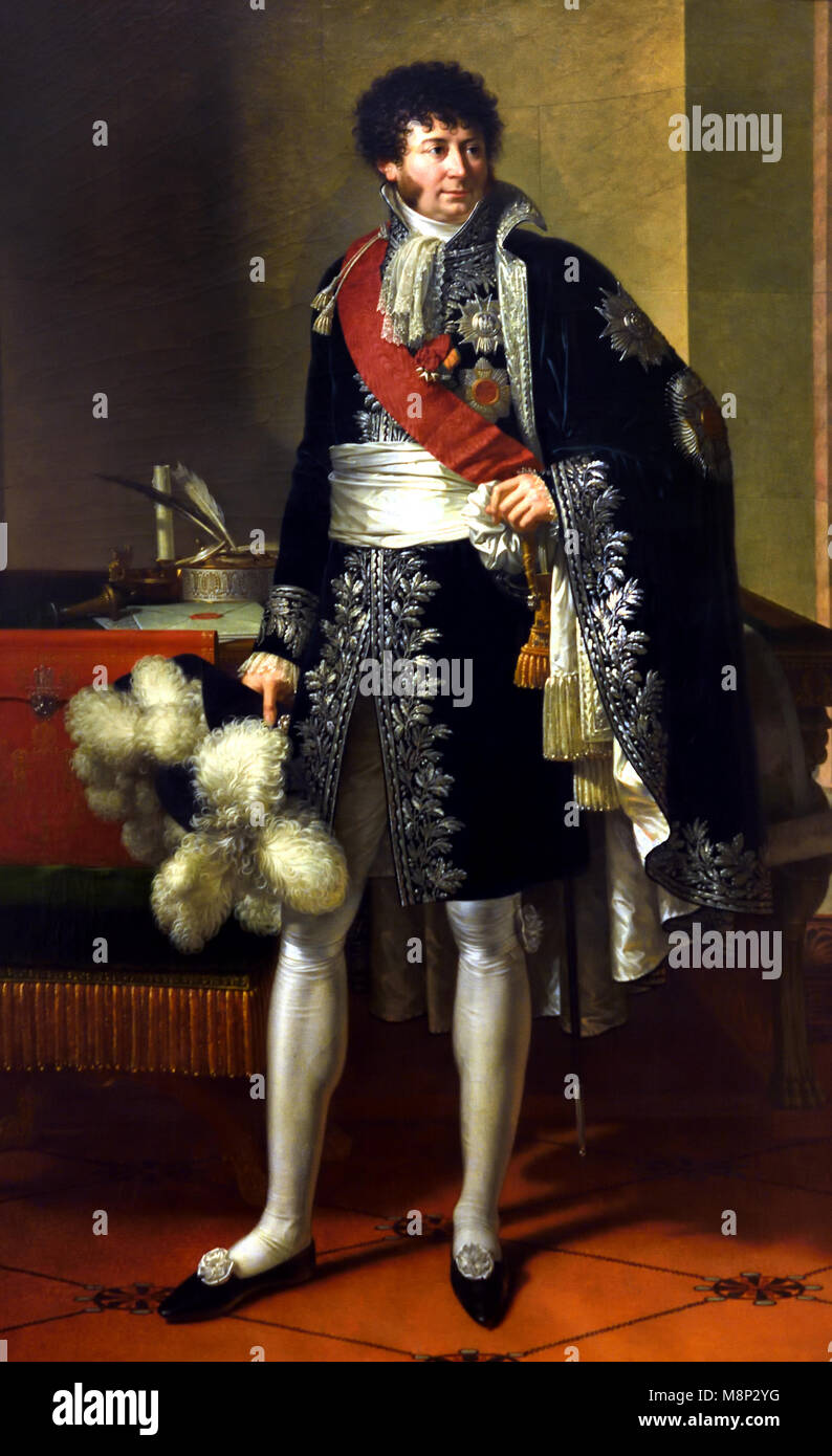 Portrait of Henri-Jacques-Guillaume Clarke, Earl of Huebourg and Duke of Feltre, Marshal of the Empire and Minister - Stock Image