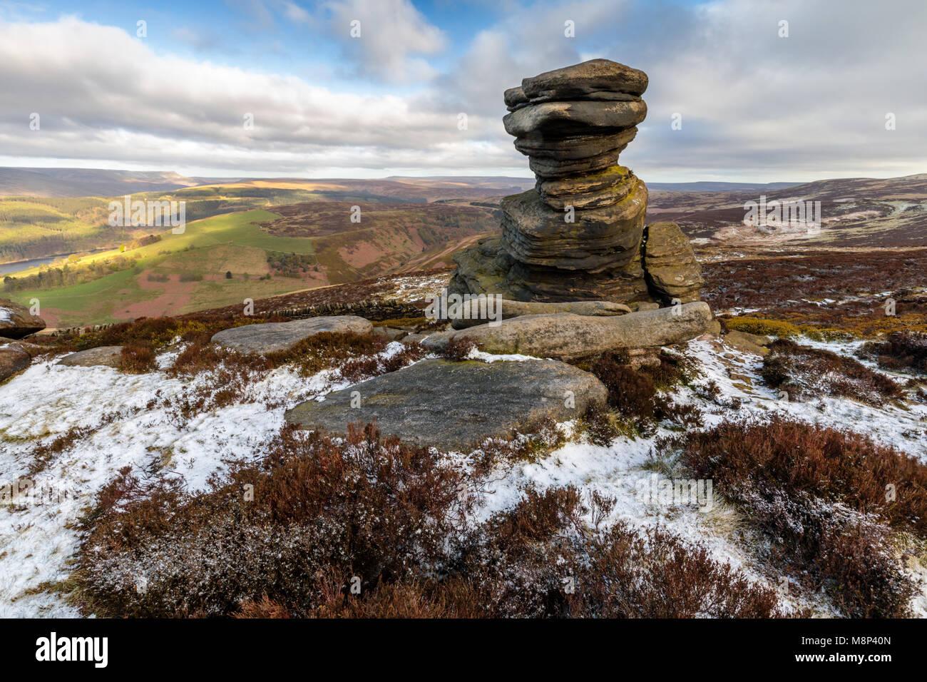 The Salt Cellar, Derwent Edge, Peak District National Park Derbyshire England UK - Stock Image