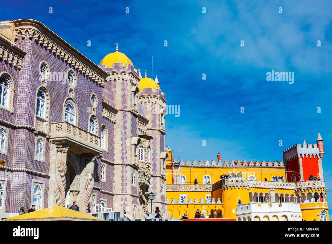The Royal Palace of Pena, or 'Castelo da Pena' as it is more commonly known, Portugal, Sintra. - Stock Image