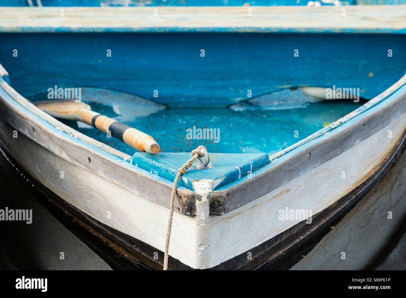 Wooden Row Boats in Perkins Cove, Ogunquit, Maine - Stock Image
