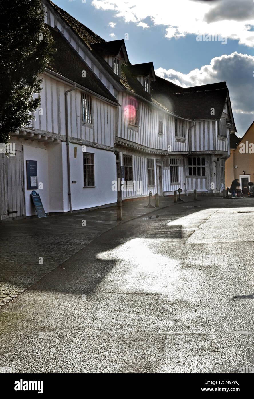 the guildhall lavenham suffolk england uk - Stock Image