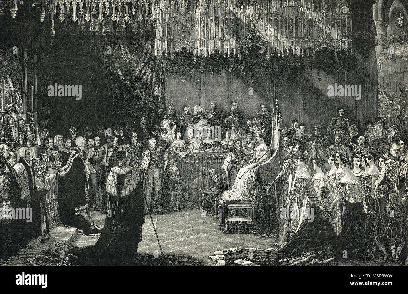 Coronation Queen Victoria, 28 June 1838 - Stock Image