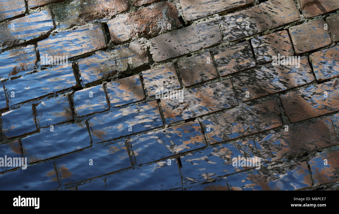 Brick wall, obstacle, barrier, background, bricks - Stock Image