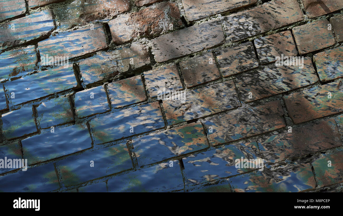 Brick wall, obstacle, barrier, background, bricks Stock Photo