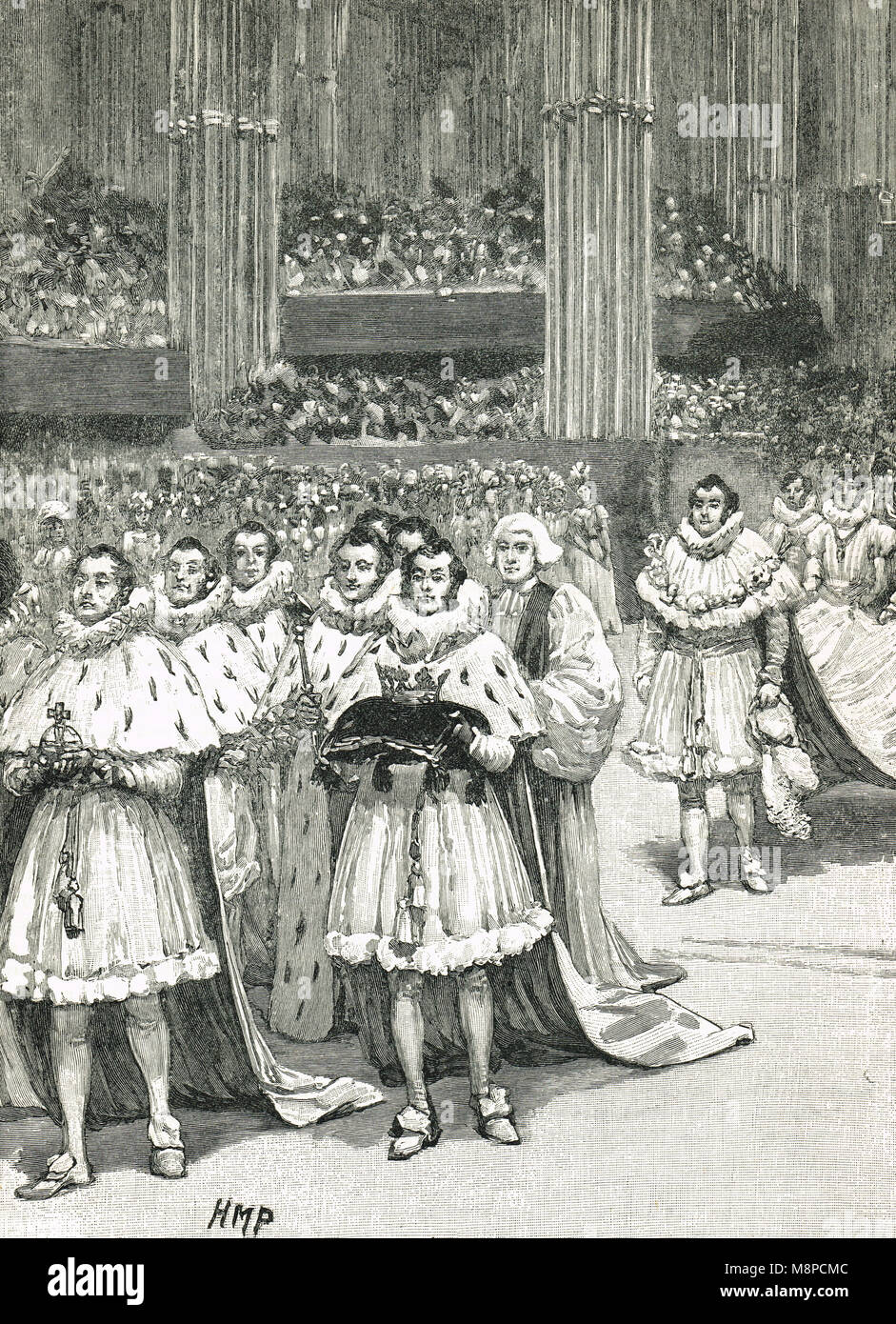 Coronation of William IV, 8 September 1831, Westminster Abbey - Stock Image