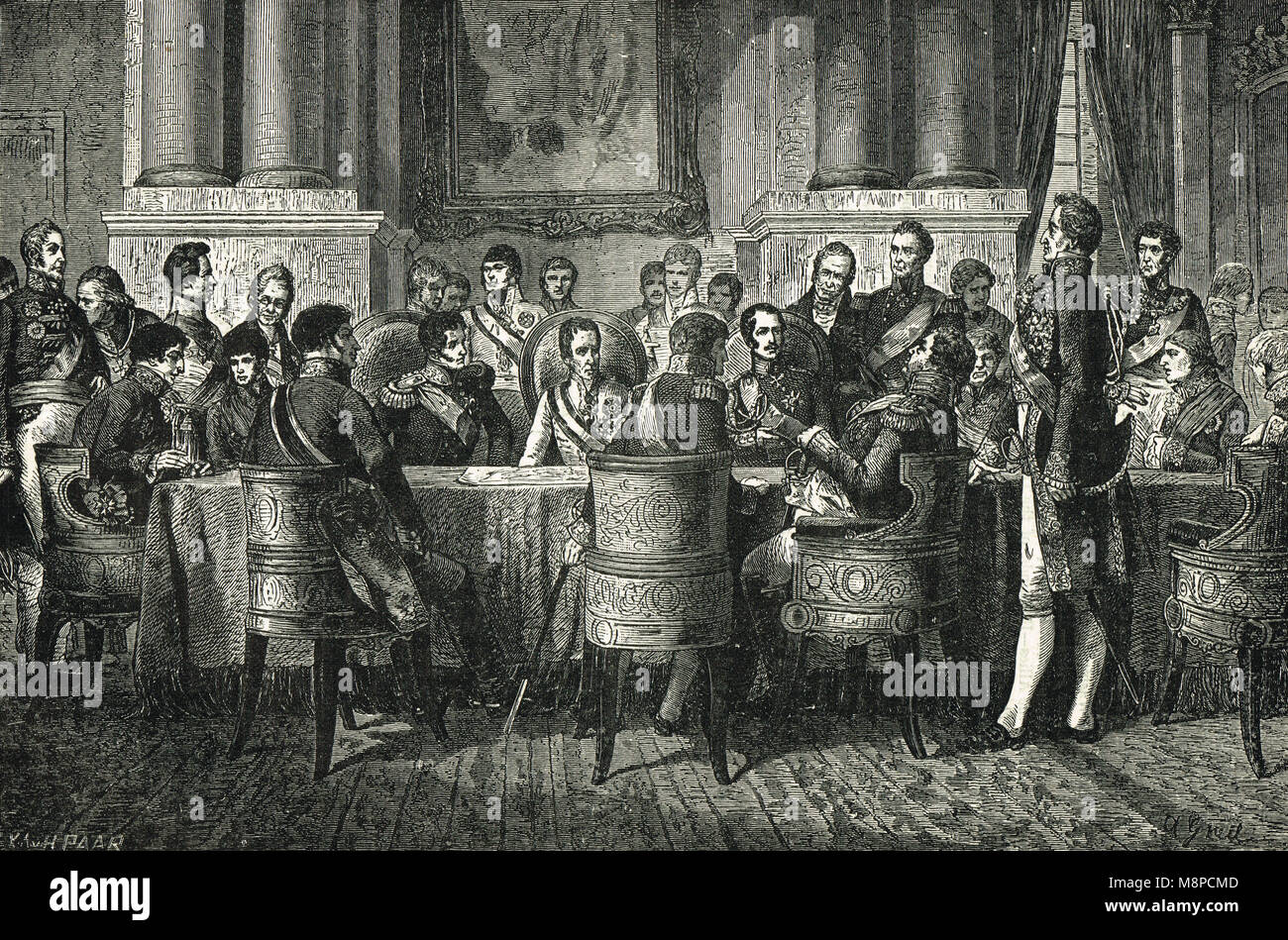 The Congress of Vienna, November 1814 to June 1815 - Stock Image