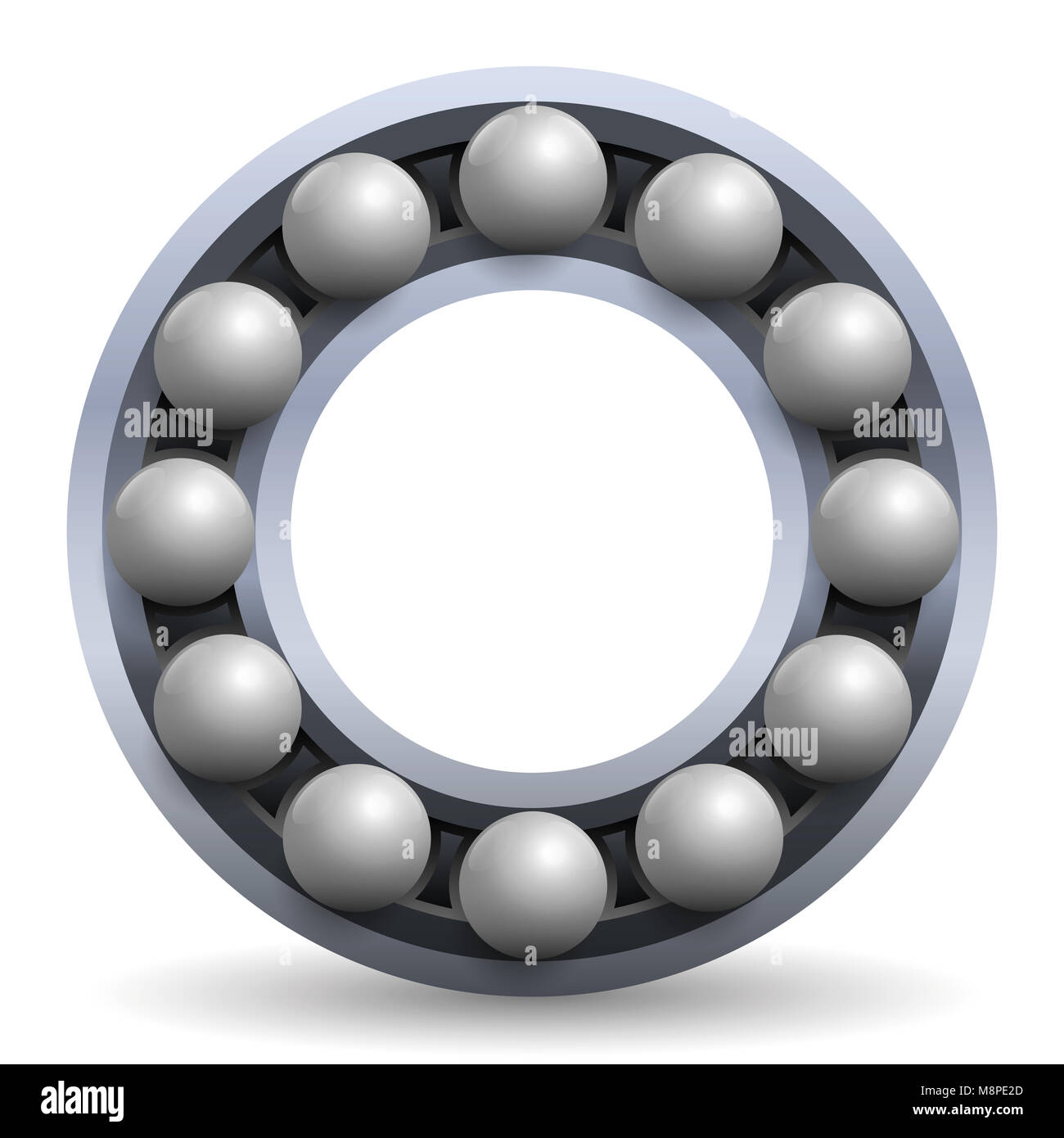 rolling bearing iron balls in a metal wheel schematic model stock  rolling bearing iron balls in a metal wheel schematic model illustration of a mechanical, technical engineering item