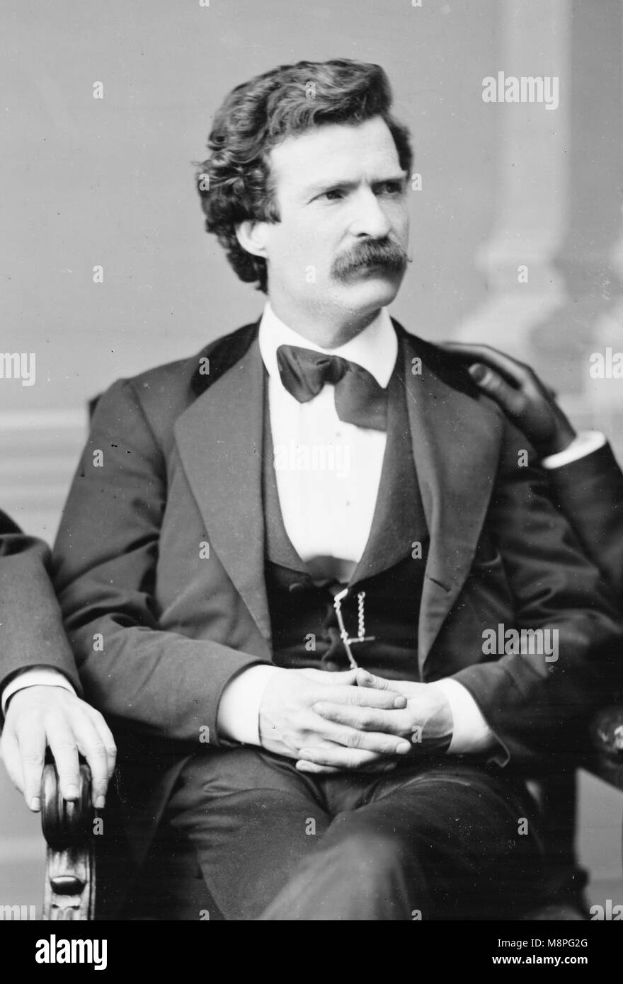 Mark Twain, Samuel L. Clemens, Samuel Langhorne Clemens (1835 – 1910) American writer Stock Photo