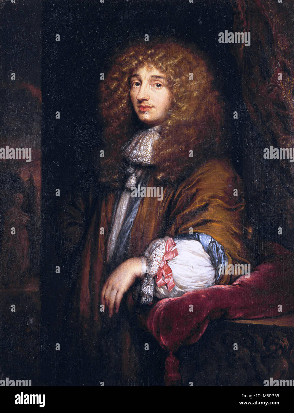 Christiaan Huygens, (1629 – 1695) Dutch scientist, physicist, mathematician, astronomer and inventor - Stock Image