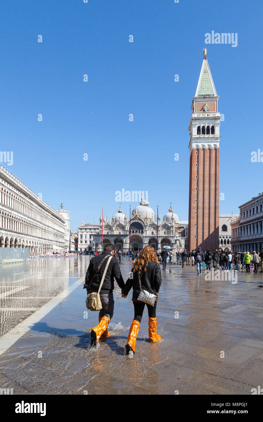 Piazza San Marco in Venice Is Not That Much Above Sea