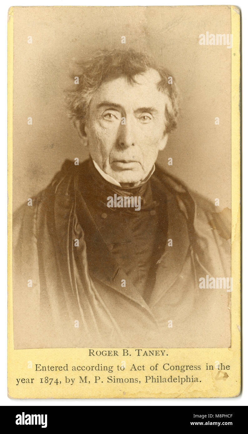 Antique 1874 Carte De Visite Roger B Taney Brooke 1777 1864 Was The Fifth Chief Justice Of Supreme Court Holding That Office From 1836