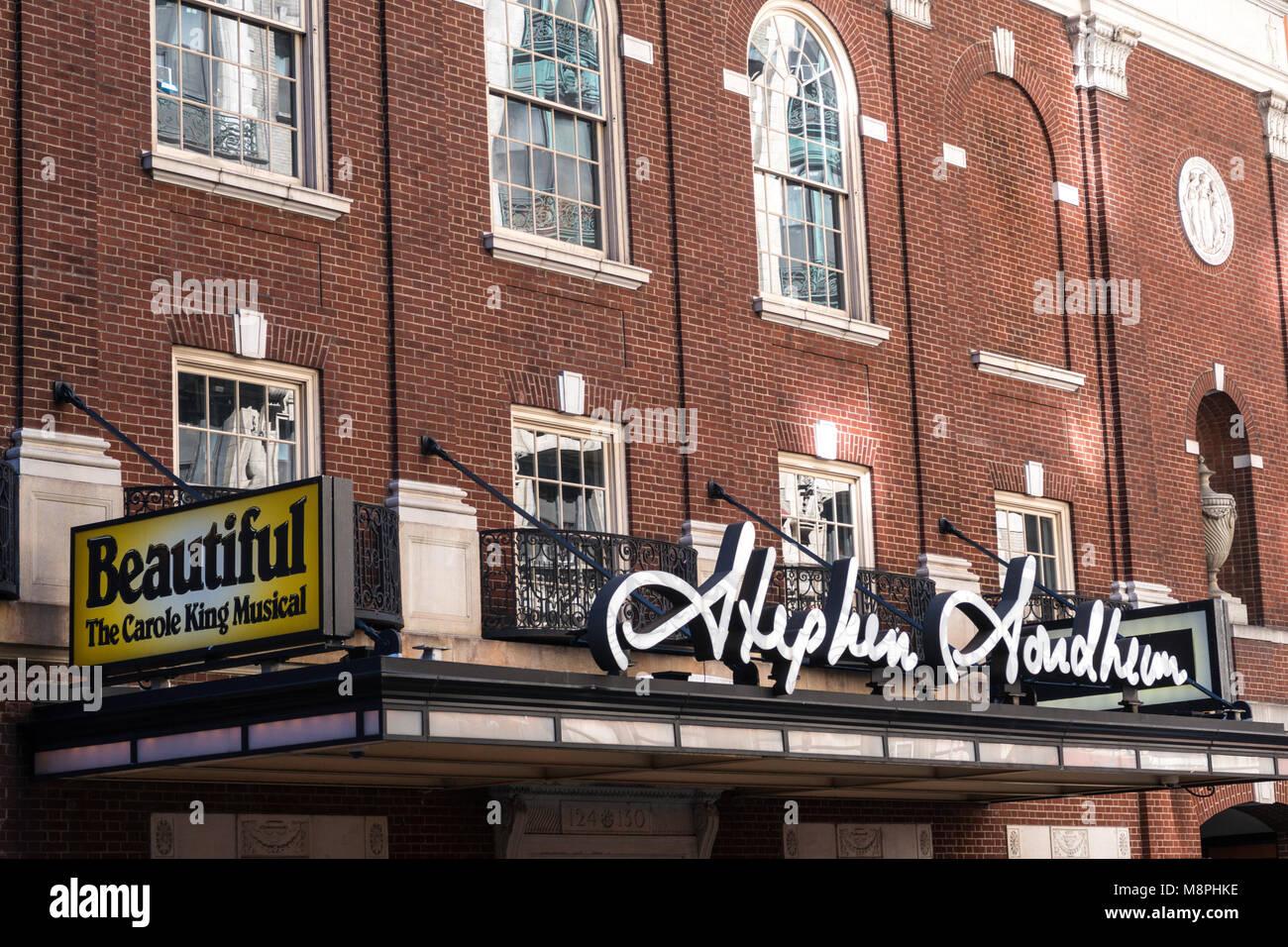 Stephen Sondheim Theater Facade West 43nd Street Nyc Stock Photo Alamy