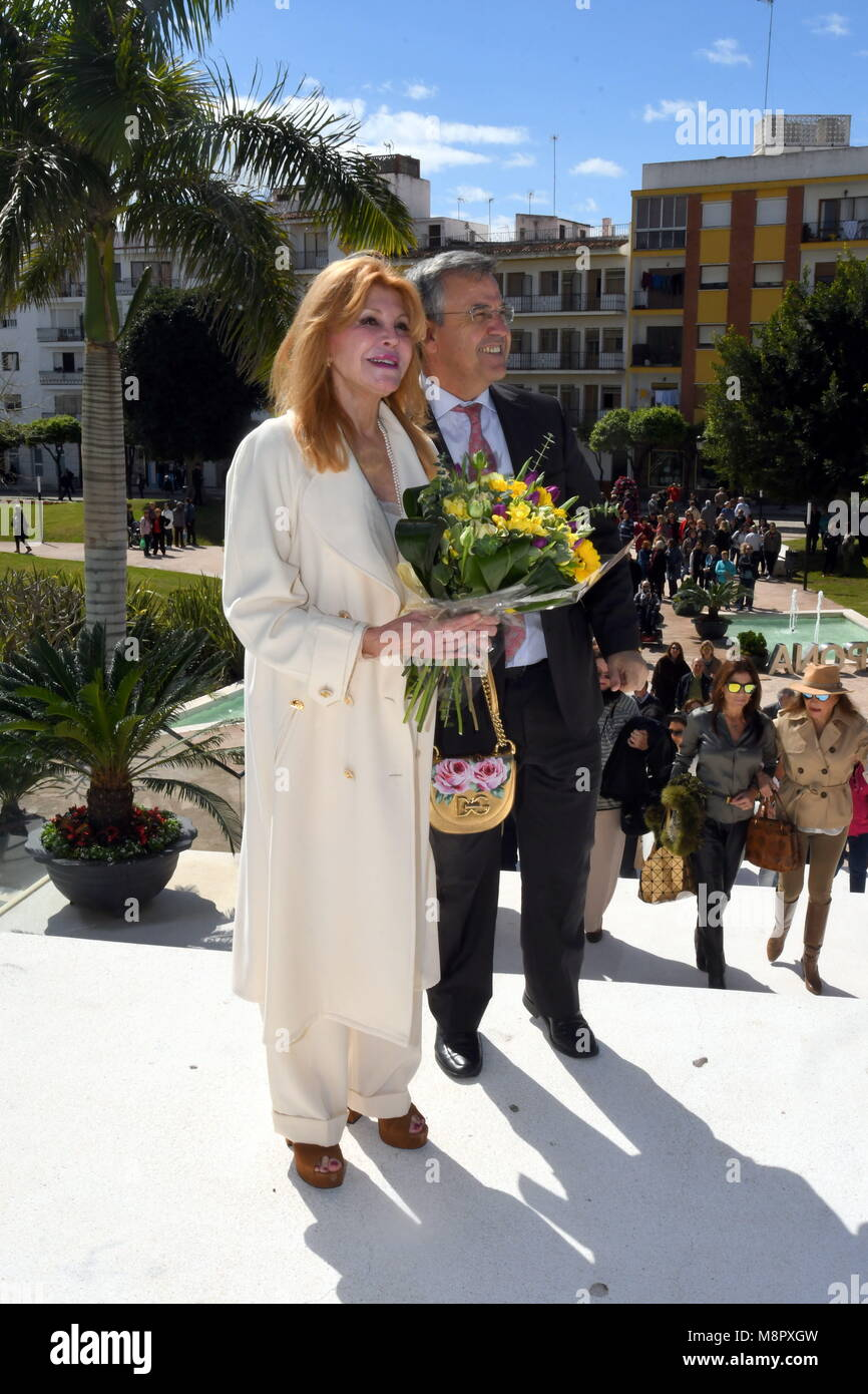 March 19, 2018 - March 19 Estepona (Malaga) inaugurated on Monday the 'Jardines de Carmen Thyssen', in the - Stock Image