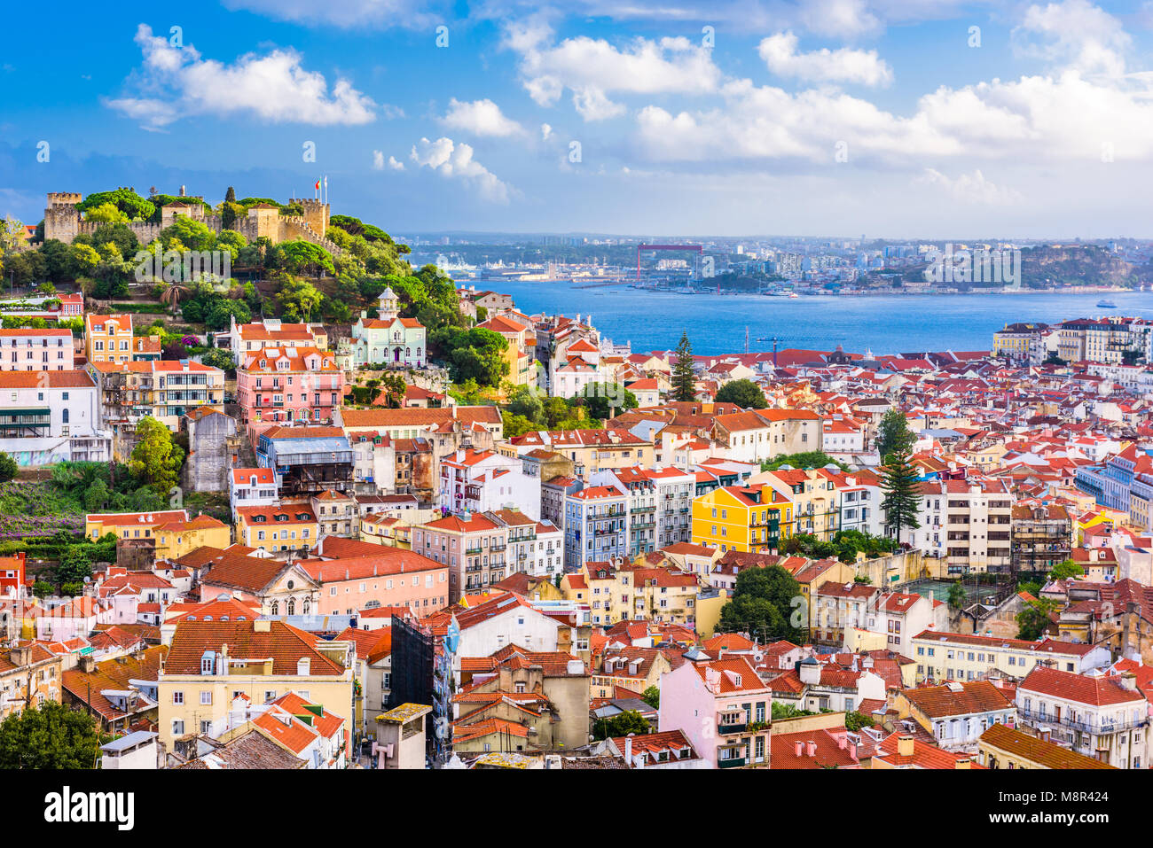 Lisbon, Portugal old town skyline. - Stock Image