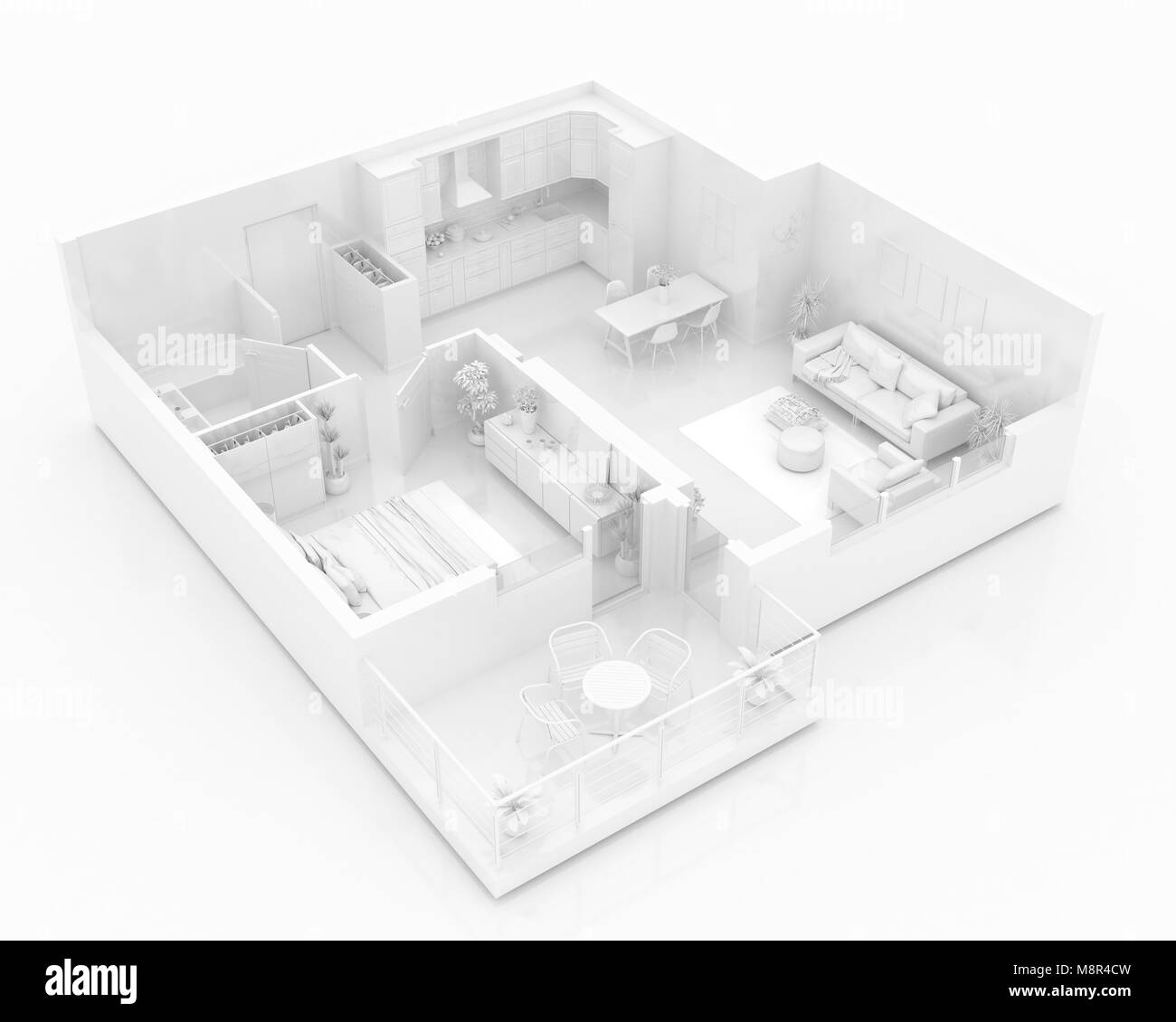 Mock Home Diagram Electrical Work Wiring Apartment Diagrams Up Of Furnished Paper Model Stock Photo Rh Alamy Com Hvac Mobile