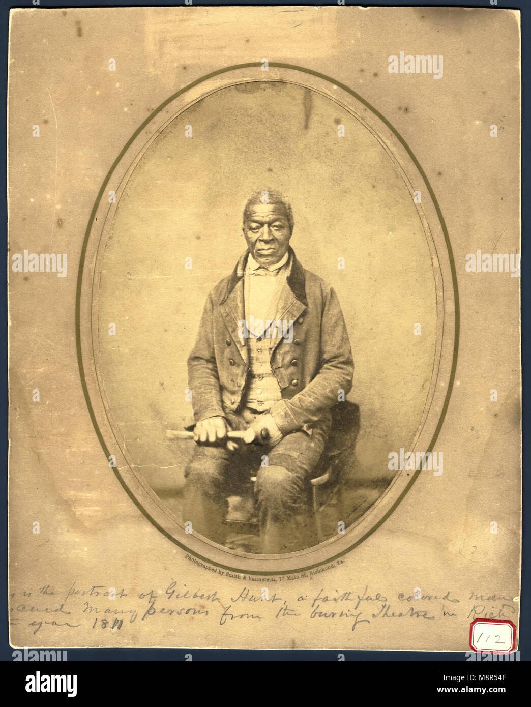 Gilbert Hunt, Hero of the Richmond Theatre Fire, 1811 - Stock Image