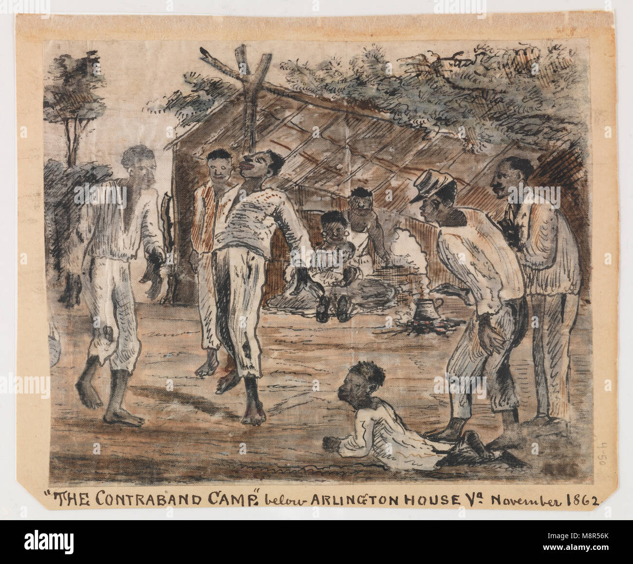 The Contraband Camp, 1862 - Stock Image