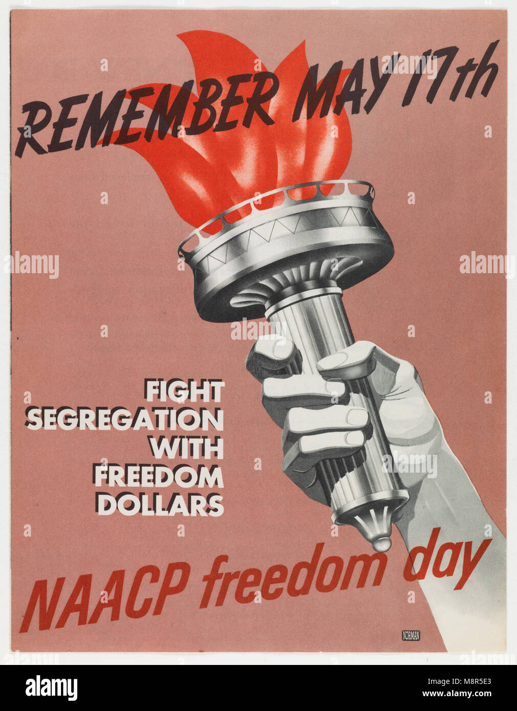 Remember May 17th, Fight Segregation with Freedom Dollars, 1955 - Stock Image