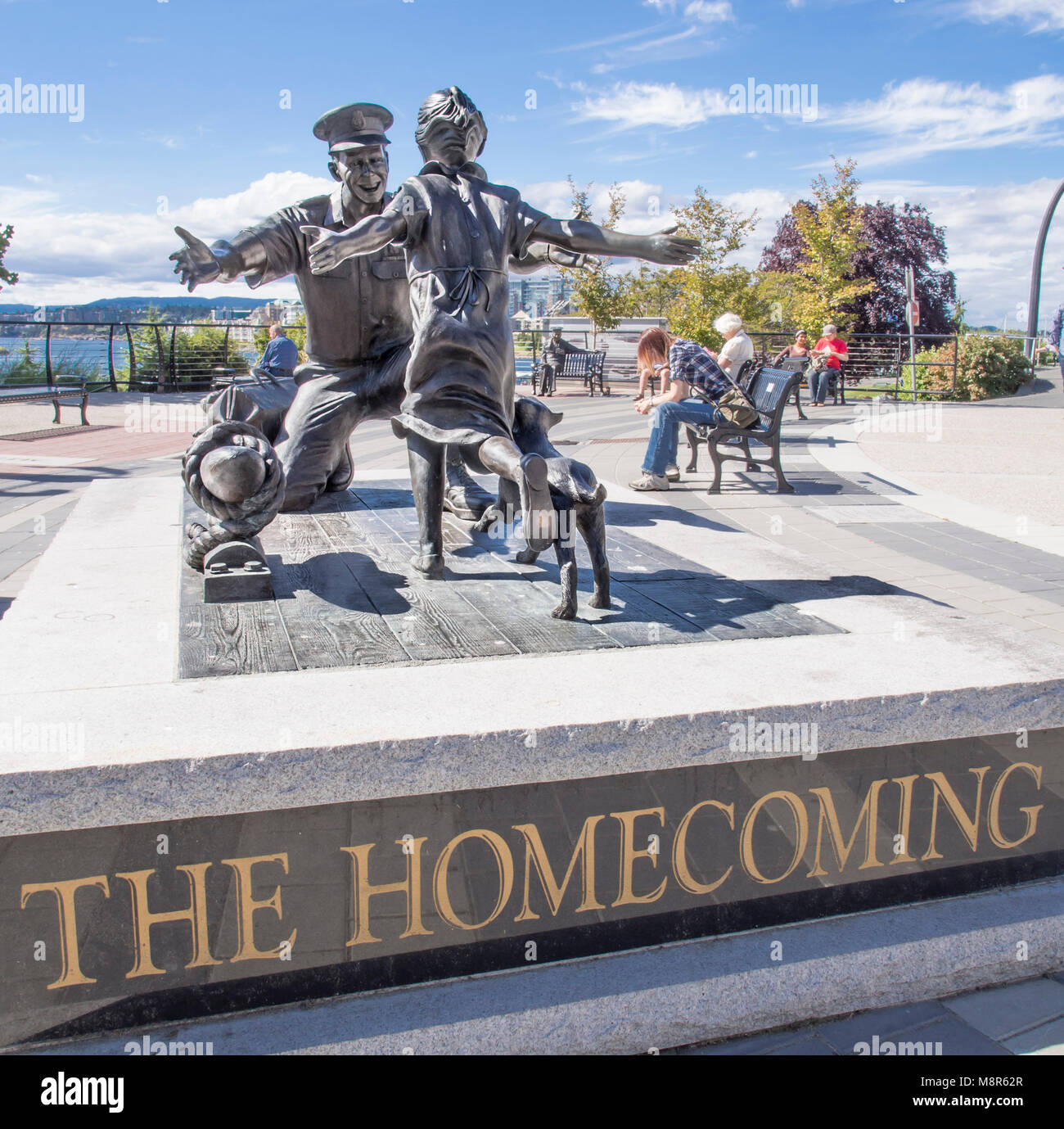 The Homecoming Sculpture In Victoria British Columbia In Canada