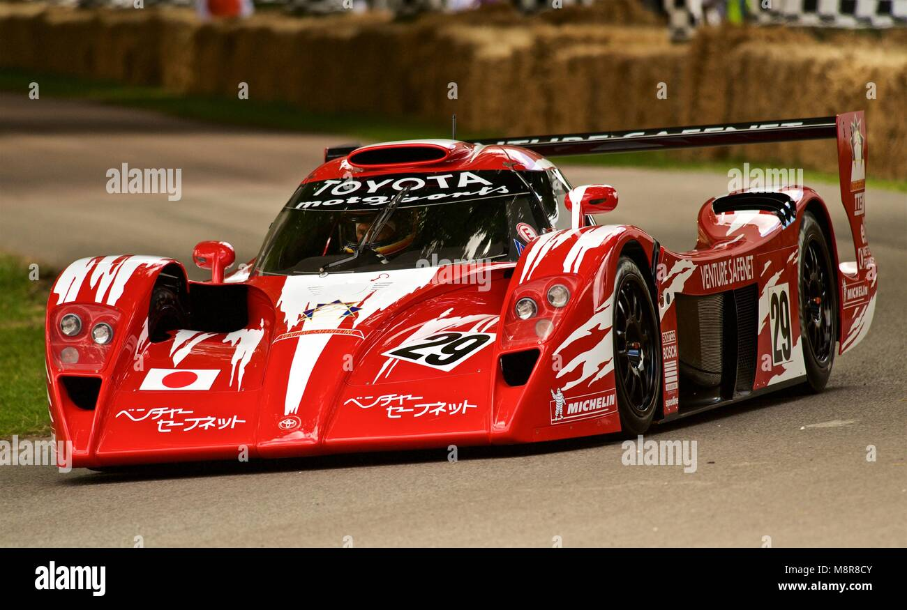 bright red toyota le mans historic sports racing car goodwood stock photo 177532459 alamy. Black Bedroom Furniture Sets. Home Design Ideas