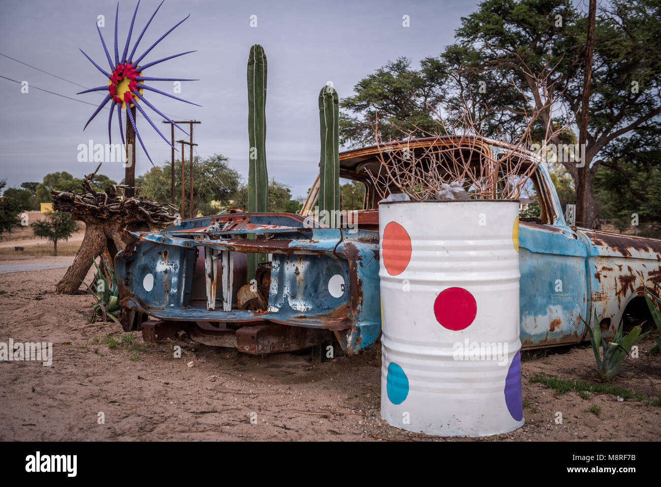 Public art at in Van Zylrus, Northern Cape, South Africa - Stock Image