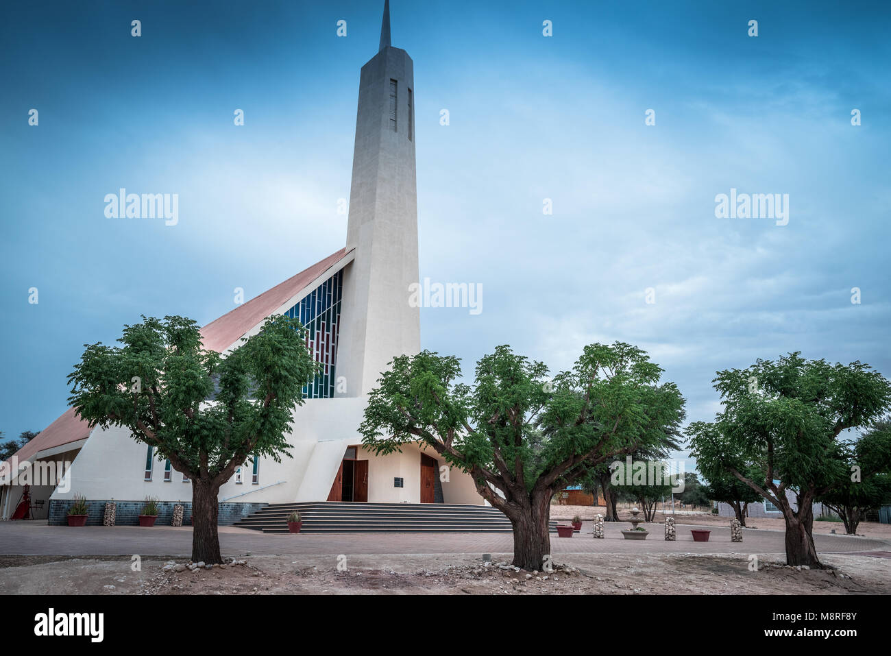 The NGK church in the small Northern Cape town of Van Zylrus in South Africa - Stock Image