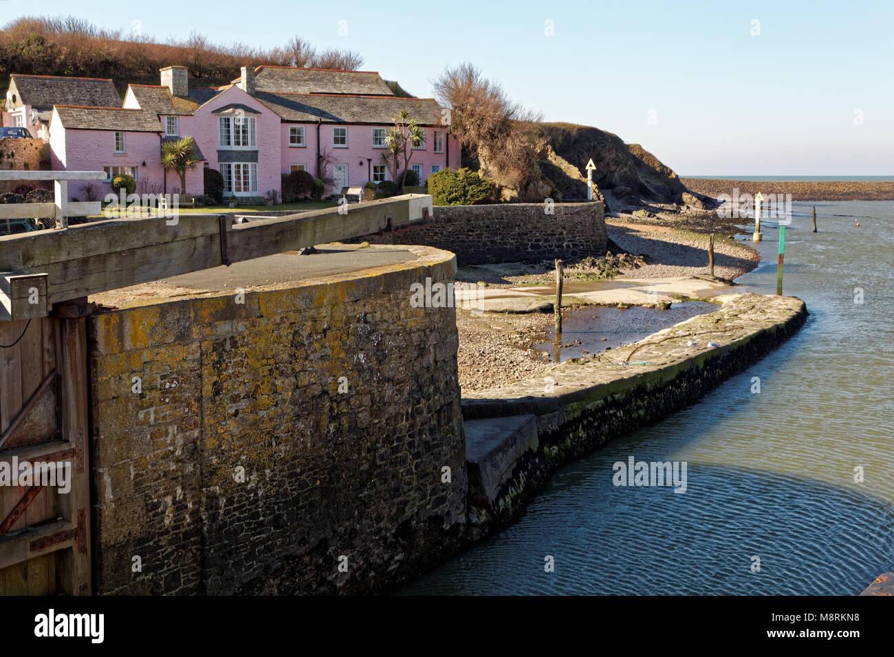 Bude Harbour, Cornwall, UK - Stock Image
