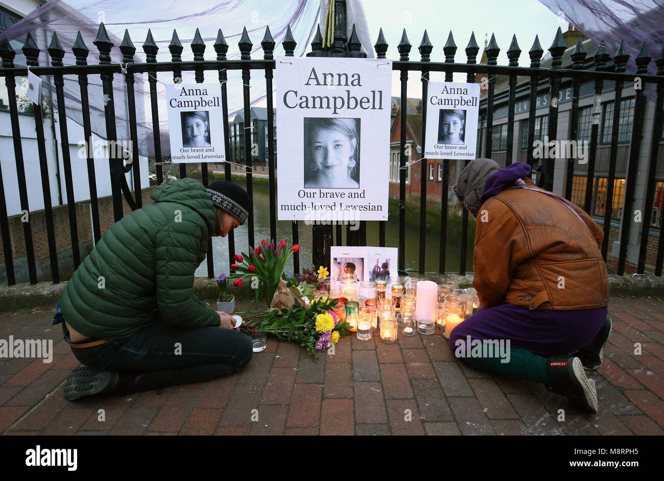 25e0cb9187 People attend a vigil honouring Anna Campbell in her home town of Lewes,  East Sussex, as the British woman who died fighting with a Kurdish armed  unit in ...