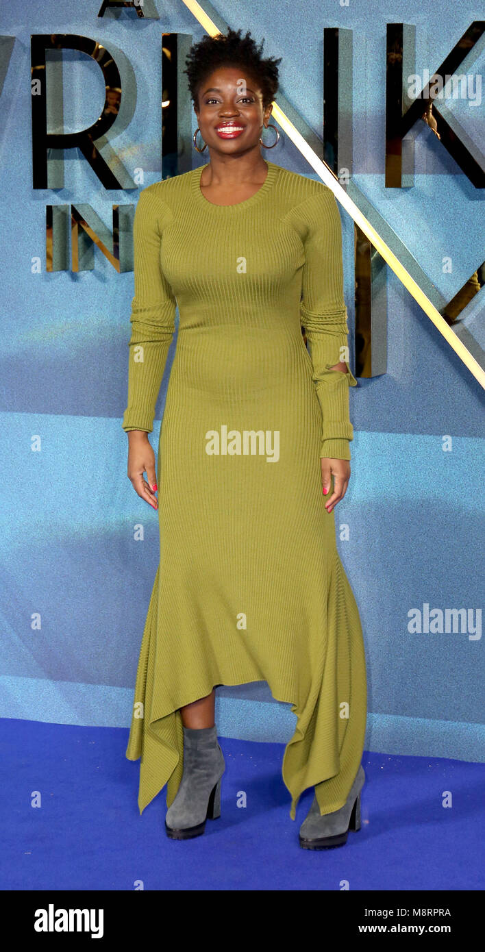 Photo Must Be Credited ©Alpha Press 080010 13/03/2018 Clara Amfo  A Wrinkle In Time European Premiere BFI Imax - Stock Image