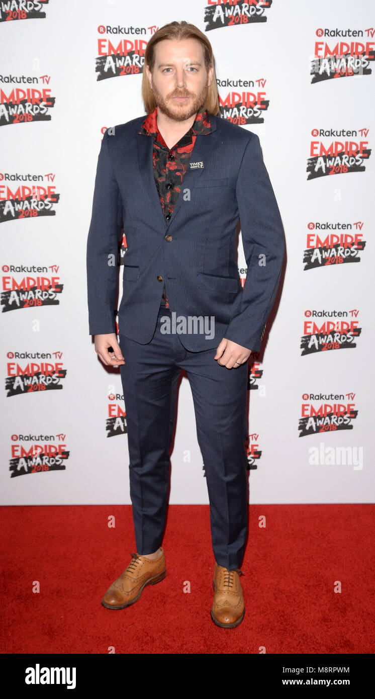 Photo Must Be Credited ©Alpha Press 078237 18/03/2018 Christian Brassington at the Rakuten TV Empire Awards - Stock Image