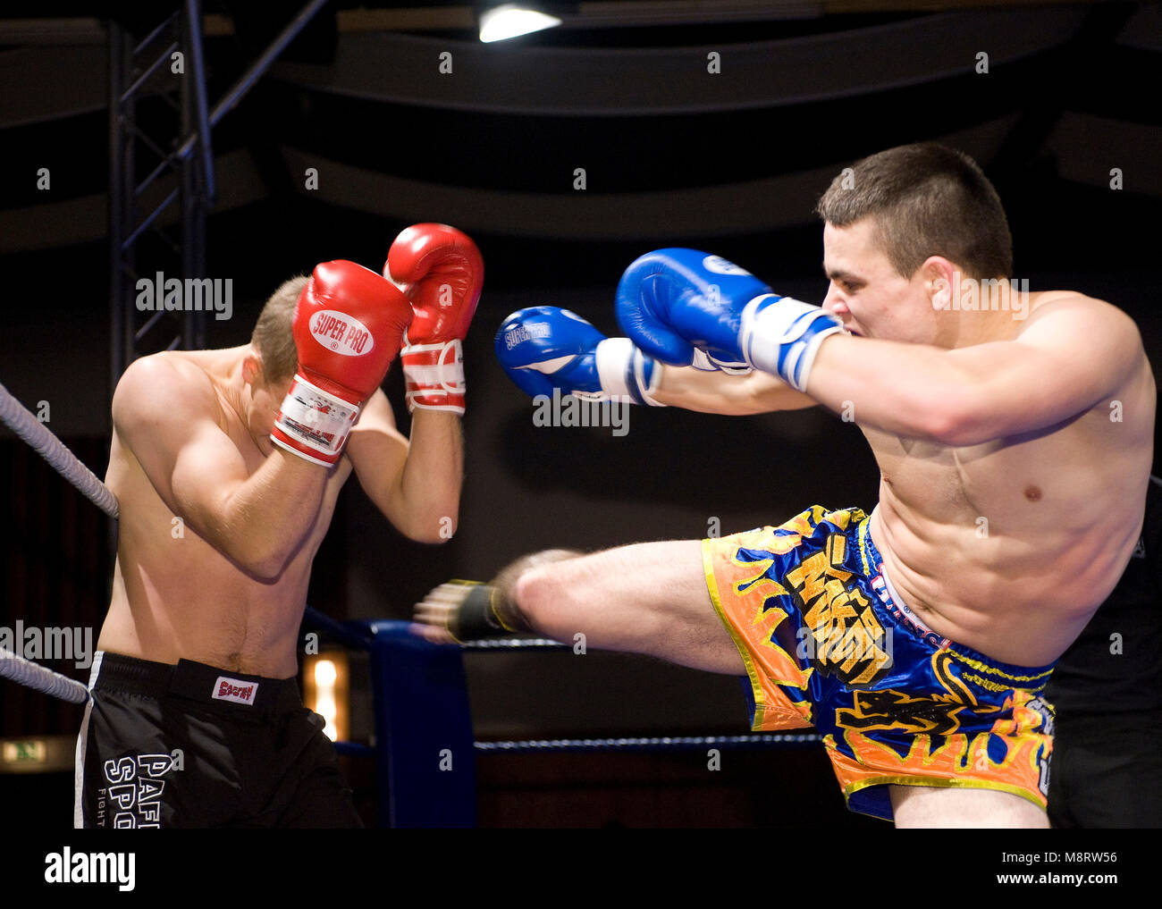 Kickboxen Kampf - Stock Image