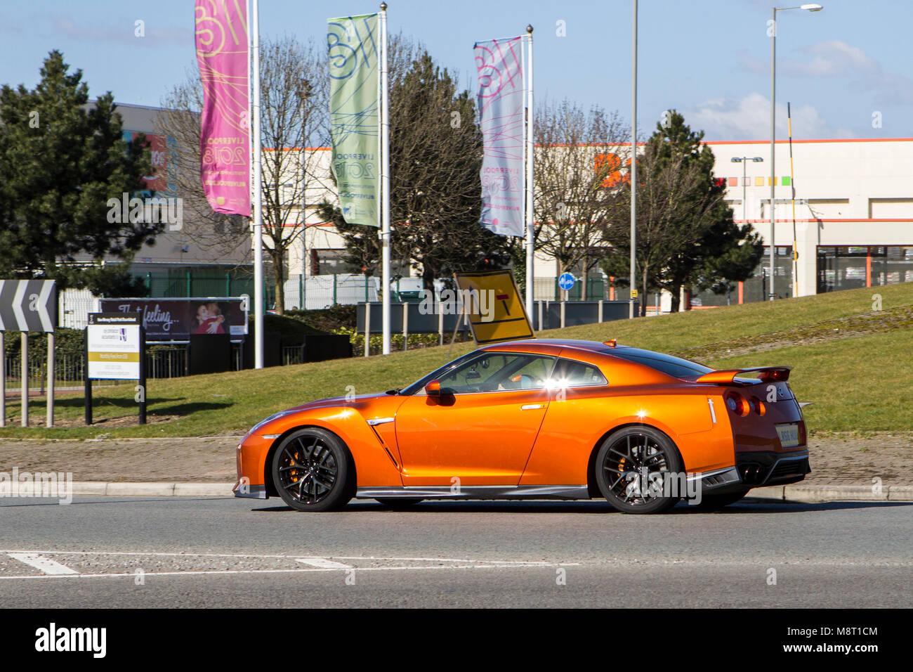 Nissan Skyline Gtr Burnt Orange Sports Car   Stock Image