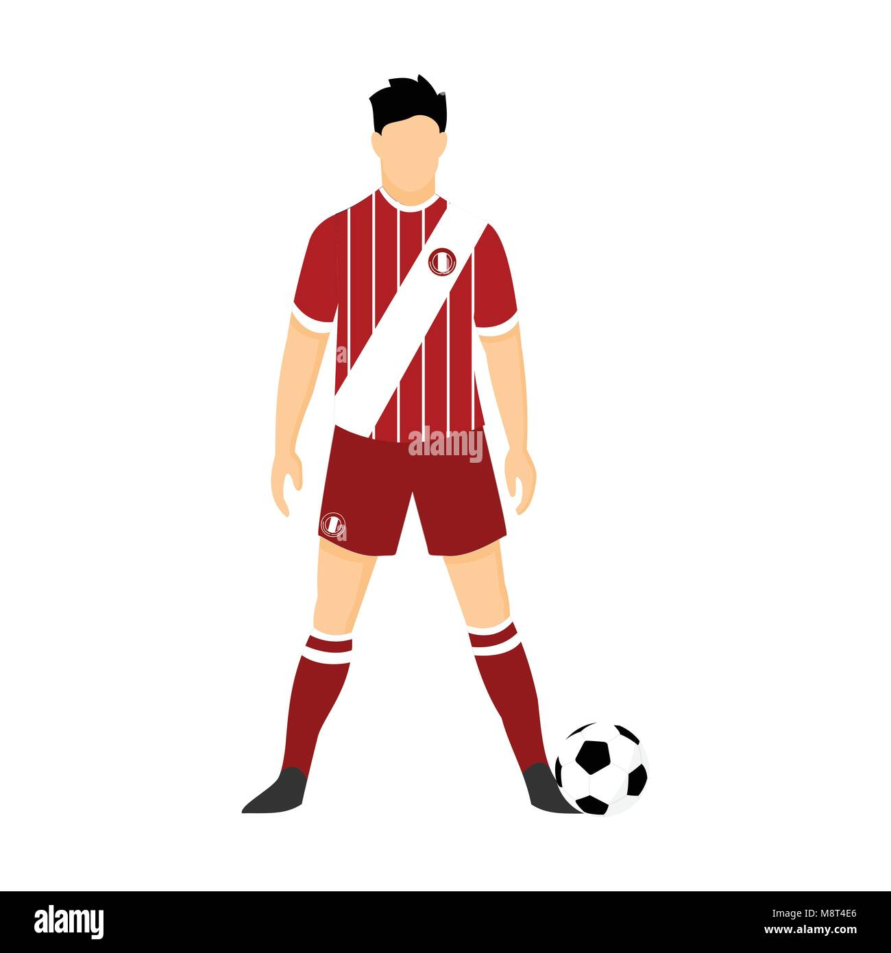 f3c36c929fb Peru Football Uniform National Team Vector Illustration Graphic Design -  Stock Vector