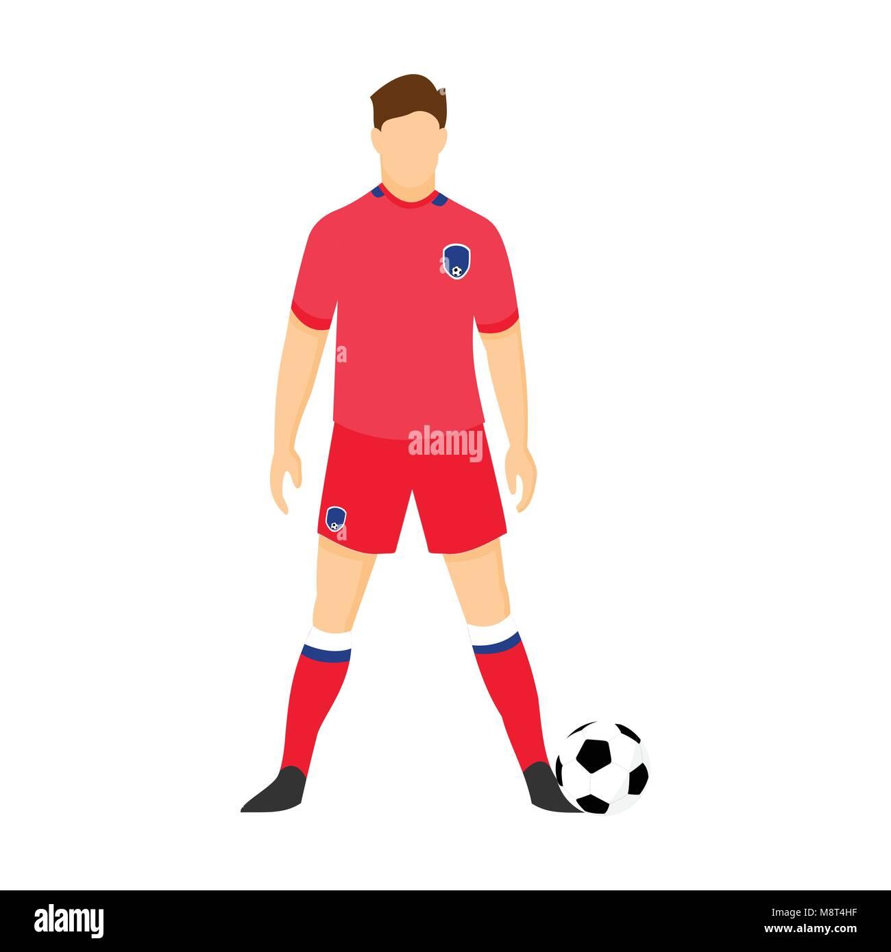 73225b5c72f South Korea Football Uniform National Team Vector Illustration Graphic  Design - Stock Vector