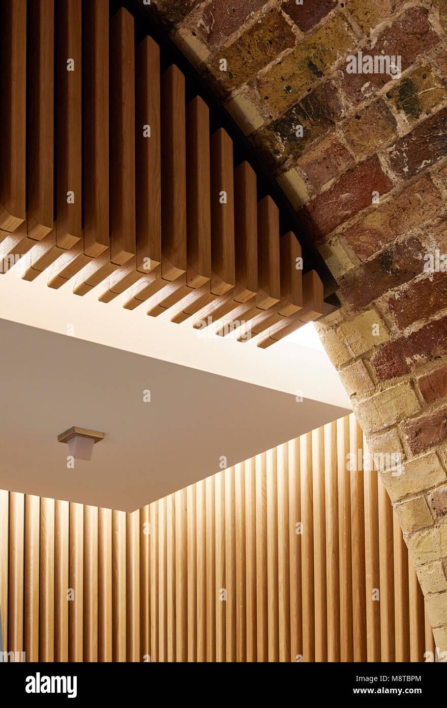 Interior detail. The River Building, London, United Kingdom. Architect: Stiff + Trevillion Architects, 2017. - Stock Image