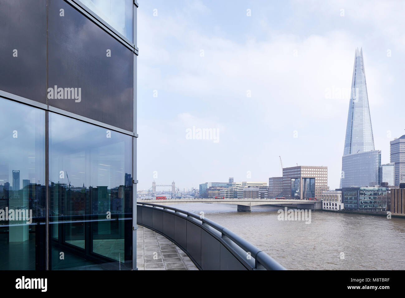 Exterior view towards The Shard and London Bridge. The River Building, London, United Kingdom. Architect: Stiff - Stock Image